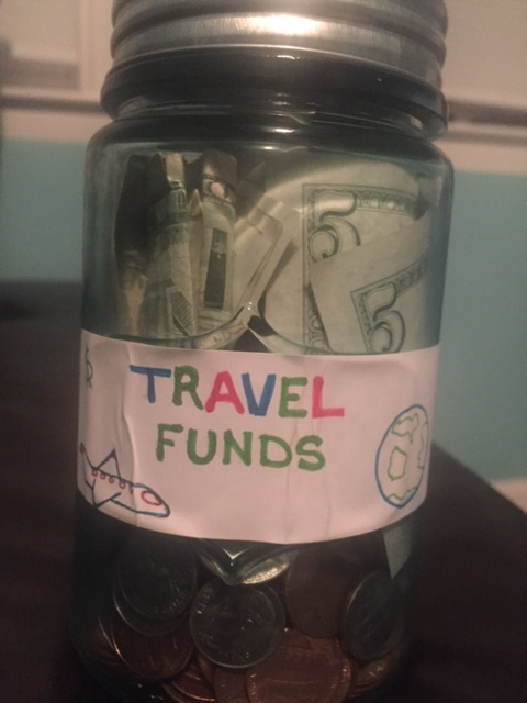 My cash savings jar